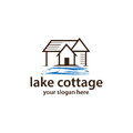 Cottage with water logo