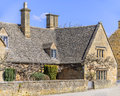 Cottages in broadway village in the cotswolds worcestershire england uk Royalty Free Stock Photos