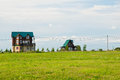 Cottages in the countryside in summer Royalty Free Stock Photo