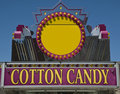 Cotton Candy Sign Royalty Free Stock Images