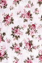 Cotton fabric with floral pattern Royalty Free Stock Photos