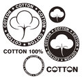 Cotton isolated objects on white background vector illustration eps Stock Images
