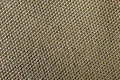 Cotton macro sepia texture of woven fabric Stock Image