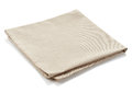 Cotton napkin beige isolated on white background Stock Photos