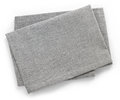 Cotton napkin folded grey isolated on white background top view Stock Photography