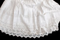 Cotton petticoat old hand embroidered Royalty Free Stock Photography