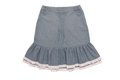 Cotton skirt with flounces a Royalty Free Stock Images