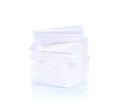 Cotton swabs sheets isolated white background on Royalty Free Stock Image