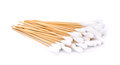 Cotton swabs on white background Royalty Free Stock Photo