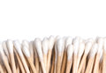 Cotton swabs on white background closeup Stock Photography
