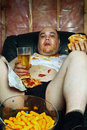 Couch potato Royalty Free Stock Image