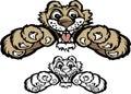 Cougar Cub / Panther Cub Mascot Logo Stock Image