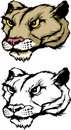 Cougar / Panther Mascot Logo Stock Photo