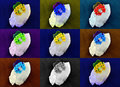 Couleurs de fleur de quartz d'impression Image stock