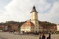 The council square in brasov piata sfatului romanian and house historical center of city romania Royalty Free Stock Photos