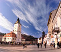 The Council square, Brasov, Romania Stock Image