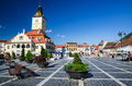 Council square brasov romania august image with tourists in taken on rd august is medieval center of city in Stock Image