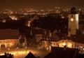 The Council Tower at night in Sibiu Transylvania