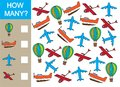 Count how many air transport objects and write the result.
