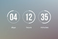 Countdown clock timer web site template vector design