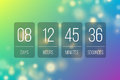Countdown flip clock timer web site template design