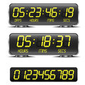 Countdown timer detailed illustration of a digital with led digits Royalty Free Stock Photography
