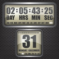 Countdown timer on octagon background illustration Royalty Free Stock Images