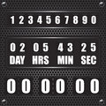 Countdown timer on octagon metal background illustration Stock Photo