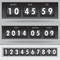 Countdown timer vector easy change time Stock Photos