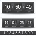 Countdown timer vector easy change time Stock Images