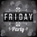 Counter days indicating friday party over pattern background vector illustration Stock Photography