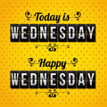 Counter days indicating wednesday over dotted background vector illustration Royalty Free Stock Photos