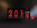 Counter turn of the year 2013 Stock Photography