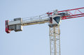 The counterweight and tower crane operator's cab Royalty Free Stock Photo