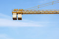 The counterweight of the tower crane at work Royalty Free Stock Photo