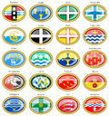Counties of England flags Royalty Free Stock Photo