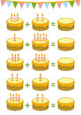Counting educational game for children addition worksheets preschool a mathematical count the numbers in the picture and write the Stock Image