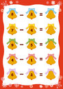Counting Educational Game for Children. Subtraction worksheet Royalty Free Stock Photo