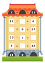 Counting educational game tasks for addition and subtraction preschool children a mathematical count the numbers in the picture Stock Photos