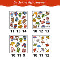 Counting Game for Preschool Children about the accessories