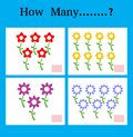 Counting Game for Preschool Children, Game for kids, Learning mathematics,Educational a mathematical game, How many