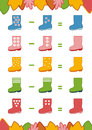 Counting Game for Preschool Children. Subtraction worksheets Royalty Free Stock Photo