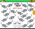 Counting left and right picture of mouse educational game