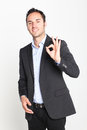Counting number zero businessman with fingers Stock Photography
