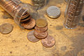 Counting pennies Royalty Free Stock Photo