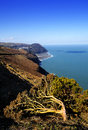 Countisbury hill coast view for the on exmoor Royalty Free Stock Photo