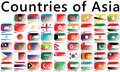 Countries of asia flags national flags Royalty Free Stock Photography