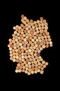 Countries winemakers - maps from wine corks. Map of Germany on b