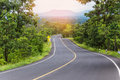 Country asphalt road with curves Royalty Free Stock Photo