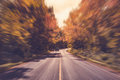 Country asphalt road in motion blur Royalty Free Stock Photo